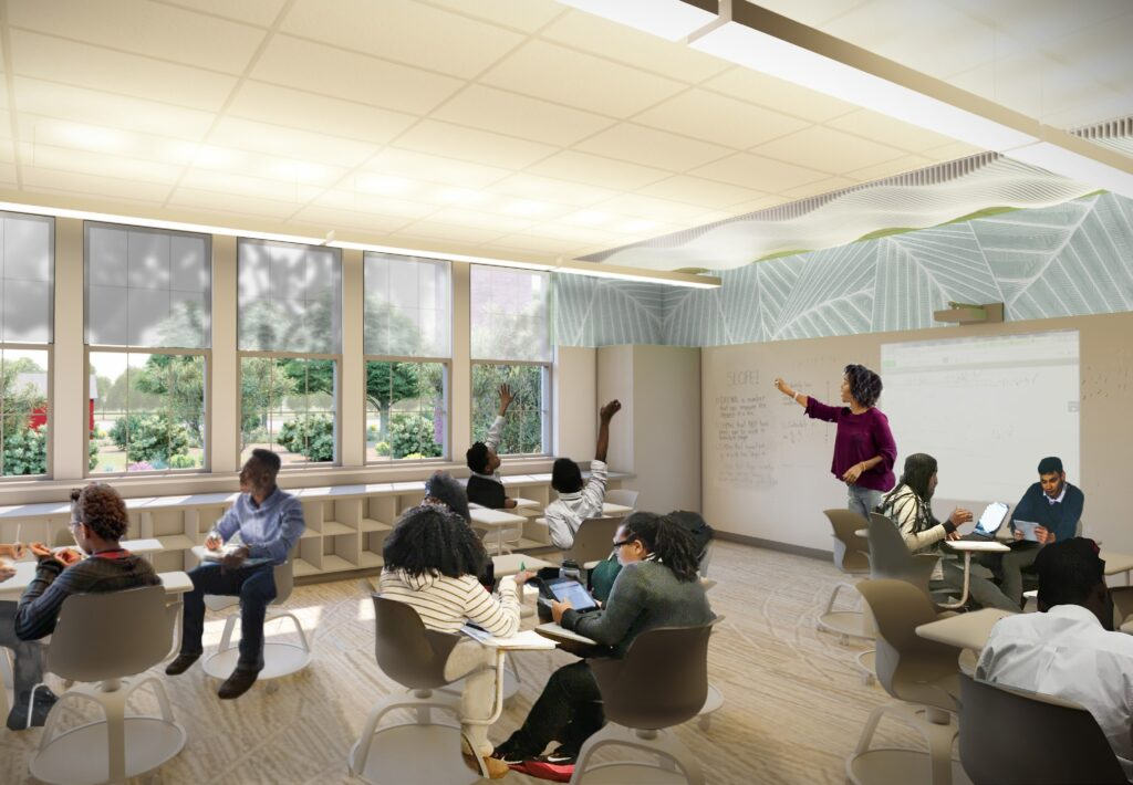 The Impact of Biophilic Learning Spaces on Student Success